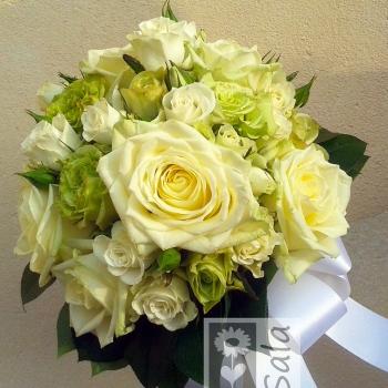 bouquet bianco e verde fb