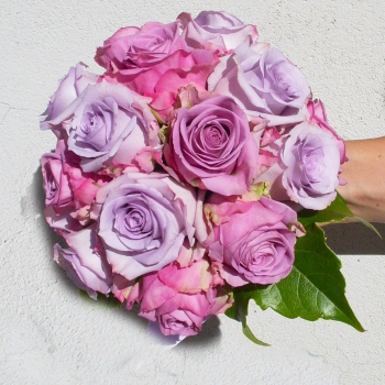 bouquet rose lilla fucsia