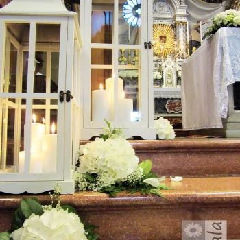 candele matrimonio bianco